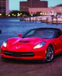 red Corvette car rental from Avis